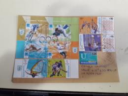 Enveloppe De L'Argentine Distribuée Avec Timbres De Jeux Olympiques Et Autres - Argentina