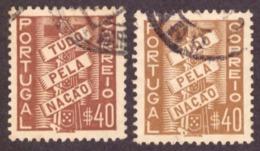 Portugal 1935-41 Tudo Pela Nação  Duas Côres 40c - 1910-... République