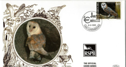 LUXEMBURG, FDC, Owls   /   LUXEMBOURG, Lettre De Première Jour, Les Hiboux, 1999 - Eulenvögel