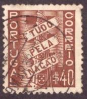 Portugal 1935- 41 Tudo Pela Nação  40c - 1910-... République
