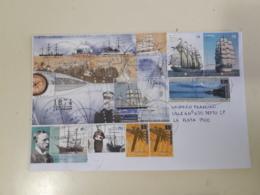 Enveloppe De L'Argentine Distribuée Avec Des Navires-blocs Et Des Sceaux De Grands Voiliers - Argentina
