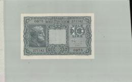 Billet De Banque  ITALIE  De 10 Lire 1944     Sept 2019  Alb Bil - [ 1] …-1946: Königreich