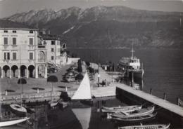 GARGNANO-BRESCIA-LAGO DI GARDA-IL PORTO E ILO LUNGOLAGO- CARTOLINA VERA FOTOGRAFIA-NON VIAGGIATA -ANNO 1950-1960 - Brescia