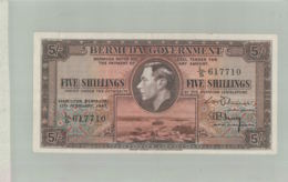 Billet De Banque  BERMUDES Bermuda Government 5 Shillings  Sept 2019  Alb Bil - Bermudas