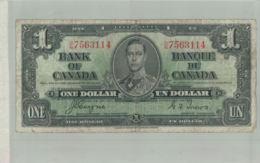 Billet De Banque  BANK OF CANADA  ONE DOLLAR  1937 Sept 2019  Alb Bil - Canada
