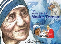 Guinea-Bissau, 2010. [gb10520] Mother Teresa & Pope (2 S\s) - Mother Teresa