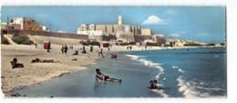 Tunisie - Monastir - La Plage Edit Gaston Levy 1213 Carte Panoramique 9X22 CPSM - Tunisie