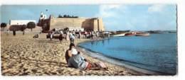 Tunisie - Hammamet - La Plage  Edit Gaston Levy 435 Carte Panoramique 9X22 CPSM - Tunisie