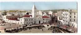 Tunisie - Tunis Place Ali Belhaouane Et Eglise Saint Paul Edit CAP 897 Carte Panoramique 9X22 CPSM - Tunisie