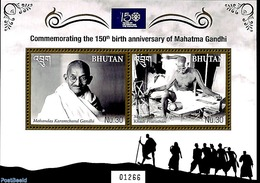 Bhutan 2019 M. Gandhi 2v M/s, (Mint NH), Politicians - Gandhi - Mahatma Gandhi