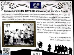 Bhutan 2019 Gandhi S/s, (Mint NH), Politicians - Gandhi - Mahatma Gandhi