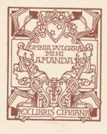 Ex Libris Omnia Pulchra Mihi Amanda - Cipriani - Giulio Cisari - Ex Libris