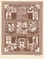 Ex Libris Leandro Petracchi - Giulio Cisari (gesingeerd) - Ex Libris