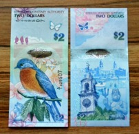 Bermuda 2 Dollar 2012 P-57 UNC BANKNOTE CURRENCY - Bermuda