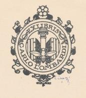 Ex Libris Carlo Lombardi - Giulio Cisari (gesigneerd) - Ex Libris