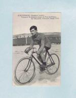 CP Jean-Baptiste DORTIGNACQ, Champion Landais, Vainqueur Étapes Du Tour De France, Sur Bicyclette PEUGEOT, Pneus LION. - Cyclisme