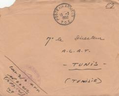 LETTRE FM - BPM 136 - CHEF DE CORPS SP 77212 - 3/4e REGT TIRAILLEURS TUNISIENS - P/ DIRECTEUR L A.C.A.T - TUNIS 13/7/50 - Marcophilie (Lettres)