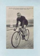 CP Thorvald ELLEGAARD, Champion Du Monde 1902, 1903, 1906, 1908, Sur Bicyclette PEUGEOT, Pneus LION. Cycliste, Vélo. - Cyclisme