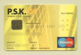Credit Card Bankcard P.S.K. Bank AUSTRIA Maestro Expired 01.2007 (more Than 10 Years) - Tarjetas De Crédito (caducidad Min 10 Años)