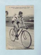 CP Henri LIGNON, Vainqueur Du Grand Prix Wolber 1909, Sur Bicyclette PEUGEOT, Pneus LION. Cycliste, Vélo. - Cyclisme