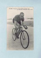 CP Henri MAYER, Vainqueur Du Grand Prix De Paris 1905, Sur Bicyclette PEUGEOT, Pneus LION. Cycliste, Vélo. - Cyclisme