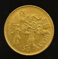 Macao Macau, China 50 Avos 1993. Km72. UNC Coin - China