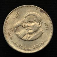 Pakistan 1 Rupee 1977. 100th Birthday Of Allama Muhammad Iqbal. Coin EF. Km46 - Pakistan