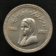 Pakistan 10 Rupees. 1st Death Anniversary Of Benazir Bhutto. Commemorative Coin. - Pakistan