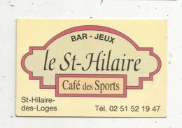 Carte De Visite, Café Des Sports,LE SAINT HILAIRE ,  Bar-jeux , 85,  SAINT HILAIRE DES LOGES - Visiting Cards