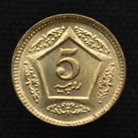 Pakistan 5 Rupees 2015, Km75, Copper-Nickel 18.5 Mm UNC Coin - Pakistan