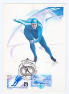 1988 Sport World Speed Skating Championships MC Maximum Card  USSR - Francobolli