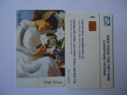 VIETNAM  USED CARDS  PAINTING - Viêt-Nam