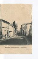 Rare CPA - MORTAGNE SUR GIRONDE - Grand'Rue - Animée - Édition Breger - Cliché Laurent - Etat - 1905 - Altri Comuni