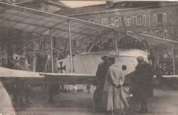 Rare Cpa Exposition D'un Avion Ennemi à Lunéville - 1914-18