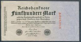 P74a Ro71a DEU-82b 500 Mark 7.7.1922 Billet Craquant VF - [ 3] 1918-1933 : République De Weimar