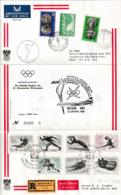 N 373) Winter Olympiade Innsbruck 1964: Beleg Flug Olympisches Feuer Von Athen - Winter 1964: Innsbruck