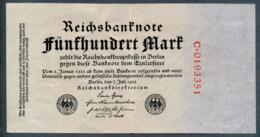 P74 Ro71a DEU-82b 500 Mark 7.7.1922 Billet Craquant VF - [ 3] 1918-1933 : Repubblica  Di Weimar