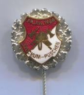 Fireman Pompier Feuerwehr - STOCKUM PUSCHEN Germany, Vintage Pin, Badge, Abzeichen, Enamel - Brandweerman