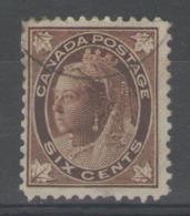 CANADA:  N°59 Oblitéré        - Cote 30€ - - 1851-1902 Règne De Victoria