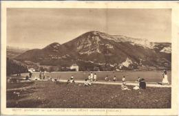 CPA Annecy La Plage Et Le Mont Veyrier - Annecy