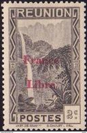 Réunion N° 219 **  Vue -> Bras Des Demoiselles - 2c Brun-noir, Surchargé France Libre - Unused Stamps