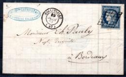 YT N° 4a Sur Lettre - Cote: 80,00 € - 1849-1850 Cérès