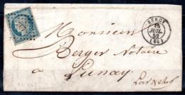 YT N° 4f Sur Lettre - Cote: 70,00 € - 1849-1850 Ceres
