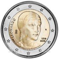 *ITALIA - 2 Euro Commemorativo 2019: 500° ANNIV. DELLA MORTE DI LEONARDO DA VINCI - Italia