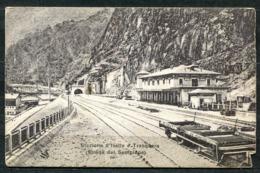 CARTOLINA - Z1699 ISELLE DI TRASQUERA (Verbano Cusio Ossola) Stazione Ferroviaria Sulla Strada Del Sempione, FP, Viaggia - Verbania