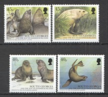 W503 SOUTH GEORGIA FAUNA MARINE LIFE FUR SEALS #353-56 MICHEL 18 EURO SET MNH - Marine Mammals