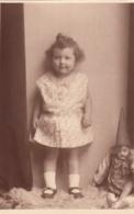 Child Playing W Doll Puppe Poupee Real Photo Postcard - Giochi, Giocattoli