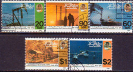 BRUNEI 1989 SG 463-67 Compl.set Used Oil And Gas Industry - Brunei (1984-...)