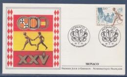= Jeux Olympiques XXVè Barcelone 1992 Enveloppe 1er Jour Monaco 26.4.91 N°1771 - FDC