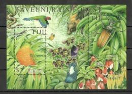 W528 FIJI FAUNA BIRDS NATURE INSECTS TAVEUNI RAIN FOREST 1BL MNH - Stamps